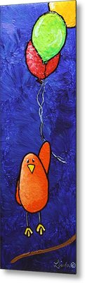 Limbbirds - Up Metal Print by Linda Eversole
