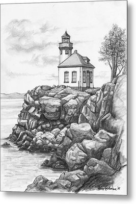 Lime Kiln Lighthouse Metal Print by Kim Lockman