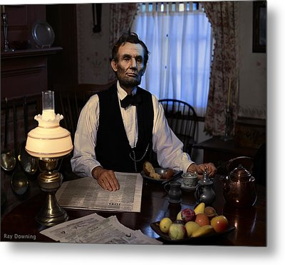 Lincoln At Breakfast 2 Metal Print by Ray Downing