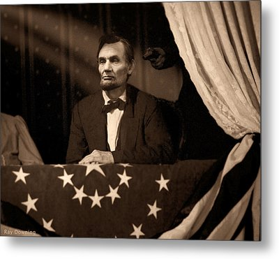 Lincoln At Fords Theater Metal Print by Ray Downing