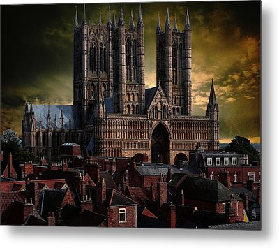 Lincoln Cathedral Metal Print by Martin Billings