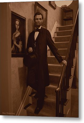 Lincoln Descending Staircase Metal Print by Ray Downing