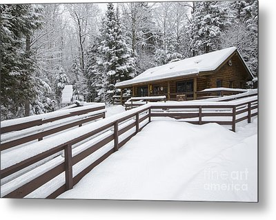 Lincoln Woods Ranger Headquarters - Lincoln New Hampshire Usa Metal Print by Erin Paul Donovan