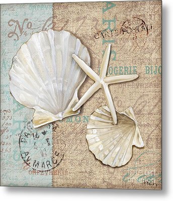 Linen Shells I Metal Print by Paul Brent