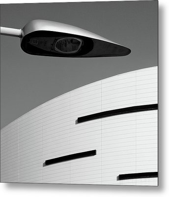 Lines And Lamp Metal Print by Dave Bowman