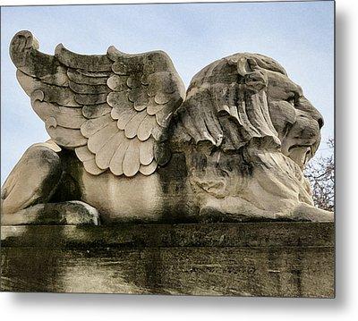 Lion With Wings Metal Print by Patricia Januszkiewicz