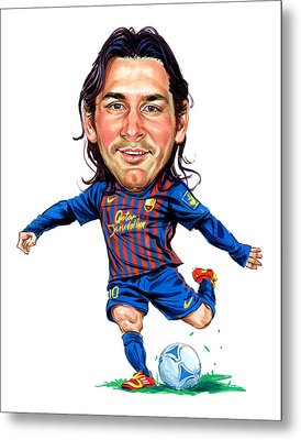 Lionel Messi Metal Print by Art