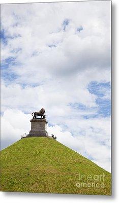 Lions Mound Memorial To The Battle Of Waterlooat Waterloo Belgium Europe Metal Print by Jon Boyes