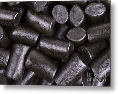 Liquorice Background Metal Print by Jane Rix