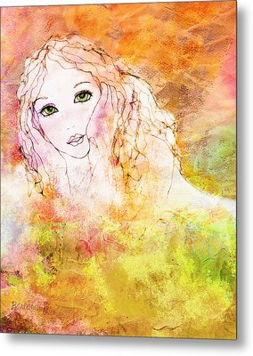 Listen To The Colour Of Your Dreams Metal Print by Barbara Orenya