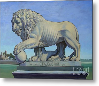 Listen To The Lion I Metal Print by Teri Tompkins