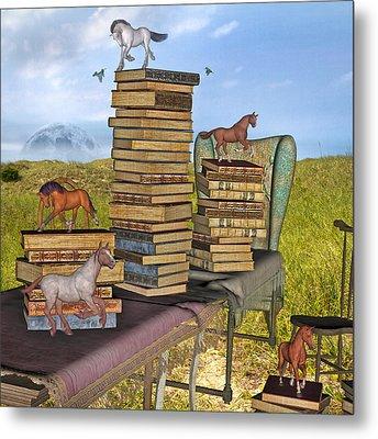 Literary Levels Metal Print by Betsy Knapp