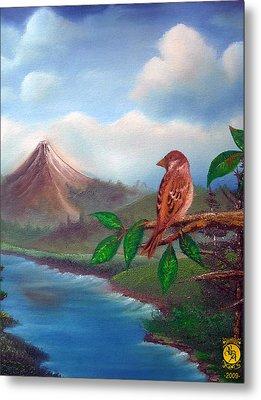 Little Bird Metal Print by Richard Bantigue