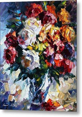 Little Bouquet Metal Print by Leonid Afremov