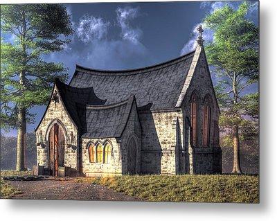 Little Church Metal Print by Christian Art