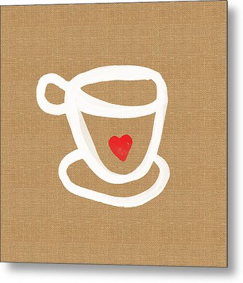 Little Cup Of Love Metal Print by Linda Woods