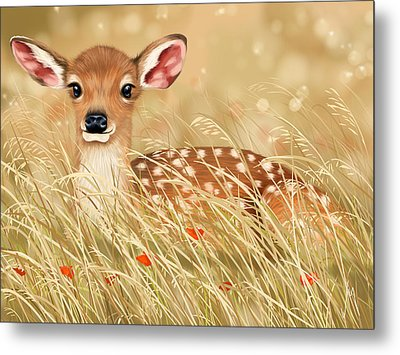 Little Fawn Metal Print by Veronica Minozzi
