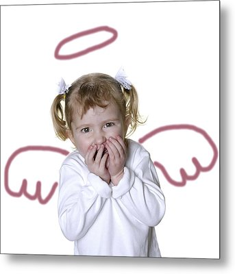 Little Girl Angel Metal Print by Lane Erickson
