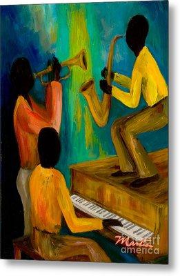 Little Jazz Trio I Metal Print by Larry Martin