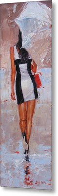 Little Red Bag Metal Print by Laura Lee Zanghetti
