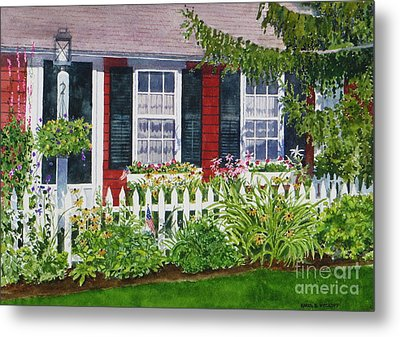 Little Red Cottage Metal Print by Karol Wyckoff