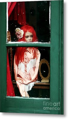 Little Red-haired Girl Metal Print by John Rizzuto