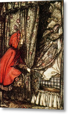 Little Red Riding Hood Metal Print by Arthur Rackham