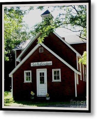 Little Red Schoolhouse Metal Print by Gail Matthews