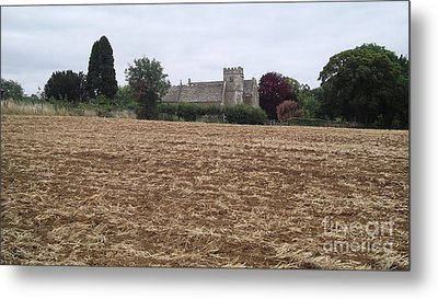 Little Rissington Church 2 Metal Print by John Williams