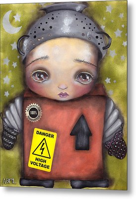 Little Robot Metal Print by  Abril Andrade Griffith