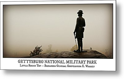 Little Round Top -- Poster Metal Print by Stephen Stookey