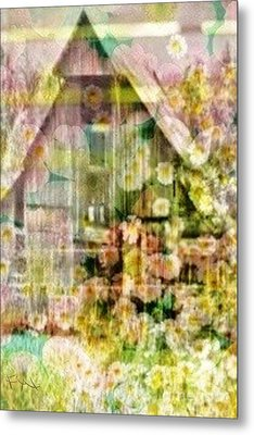 Little Witch Cottage Metal Print by PainterArtist FIN