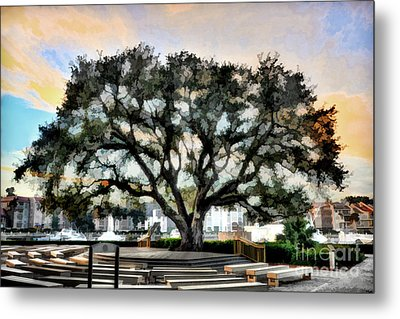 Live Oak Artistic Trendering Metal Print by Dan Friend