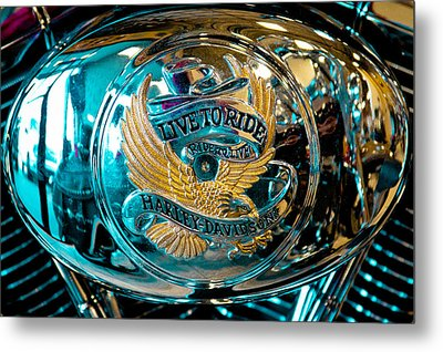 Harley - Live To Ride - Ride To Live Metal Print by David Patterson