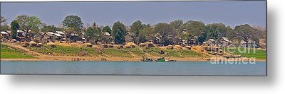Living Along The Irrawaddy River Metal Print by Beth Wolff