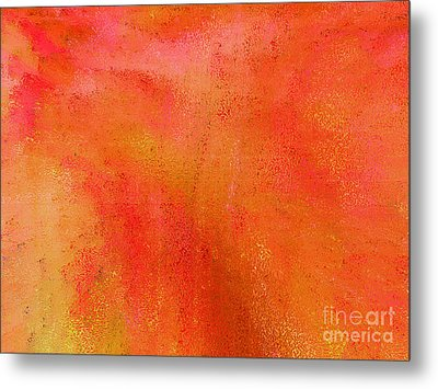 Living In A Tangerine World Metal Print by Ann Johndro-Collins
