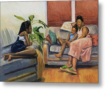 Living Room Lounge Metal Print by Colin Bootman