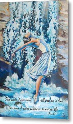 Living Water Scripture Metal Print by Tamer and Cindy Elsharouni