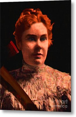 Lizzie Bordon Took An Ax - Painterly - Black Metal Print by Wingsdomain Art and Photography