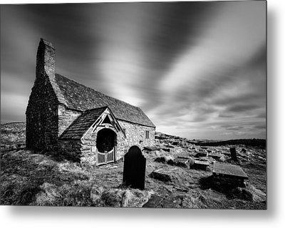 Llangelynnin Church Metal Print by Dave Bowman