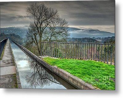 Llangollen Canal  Metal Print by Adrian Evans