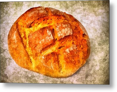 Loaf Of Bread Metal Print by Matthias Hauser