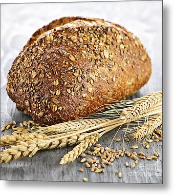 Loaf Of Multigrain Bread Metal Print by Elena Elisseeva