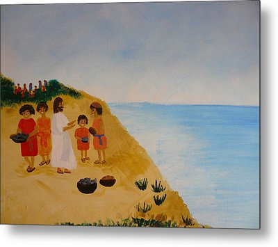 'loaves And Fishes' Metal Print by Barbara Unruh