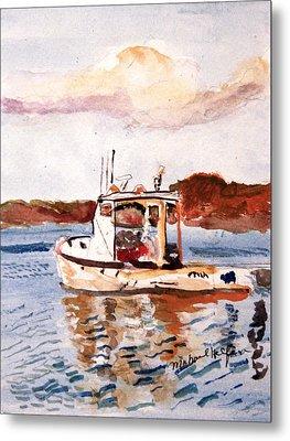 Lobster Boat Metal Print by Michael Helfen