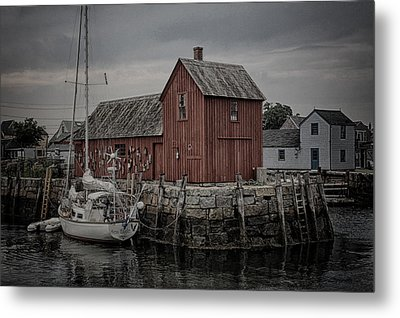 Lobster Shack - Rockport Metal Print by Stephen Stookey