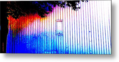 Location 54 North  A Shed Full Of Surprises Metal Print by Sir Josef - Social Critic - ART