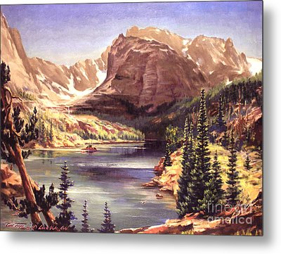Lock Vale - Colorado Metal Print by Art By Tolpo Collection