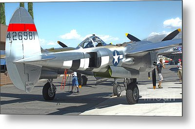 Lockheed P-38l Lightning Honey Bunny  - 09 Metal Print by Gregory Dyer
