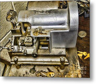 Locksmith - The Key Maker Metal Print by Paul Ward